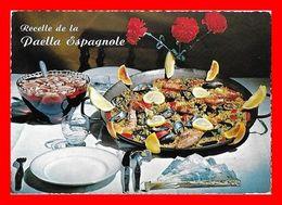 3 CPSM/gf Recettes De Cuisine.  La Paëlla Espagnole / La Piperrade / Truites Meunière.Les Recettes Au Dos...D322 - Recetas De Cocina