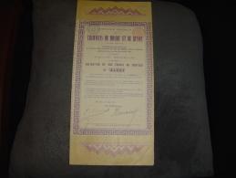 """Obligation De 300F""""Tramways De Moscou Et De Russie""""Russia Railway 1887 Bon état - Railway & Tramway"""
