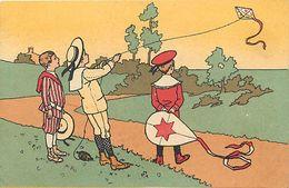 Themes Div-ref FF02-illustrateurs -illustrateur Enfants -jeux-jeu-cerfs Volants-cerf Volant -publicité Chicorée -lille- - Games & Toys