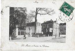 Mery Sur Oise. La Mairie Et L'entrée Du Chateau De Mery. - Mery Sur Oise