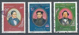 Polynésie Française Poste Aérienne YT N°117-118-120 Anciens Souverains De Polynésie Oblitéré ° - Poste Aérienne