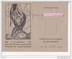 Au Plus Rapide Association Parents Amis Fusillés Mont Valérien 6 Octobre 1943 Laissez Passer Ensemble 4  Objets Rare - Documents