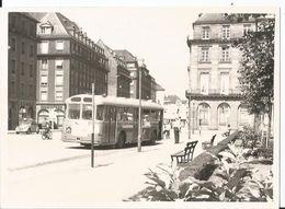 Grande Photo - Bus à Strasbourg En Gros Plan - Superbe Photo Animée Moto - Automobiles