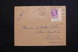 FRANCE - Enveloppe De Paris Pour Tunis En 1948, Affranchissement  Gandon 10fr ( Coin Daté ) - L 62614 - Marcophilie (Lettres)