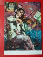 KOV 484-6 - PEINTURE, PENTRE, ART, Jovan Bijelic, Violinist, Violoniste - Peintures & Tableaux