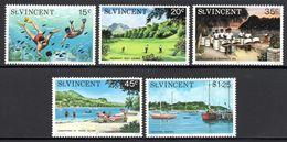St Vincent - 1975 Tourism Set (**) # SG 451-455 - St.Vincent (1979-...)