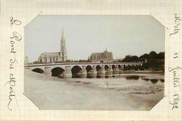 METZ  - Pont Des Morts , 11 Juillet 1892 (photo Format 11,6 Cm X 8 Cm Environ). - Lieux