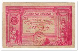 PORTUGAL,5 CENTAVOS,1918,P.98,aVF,SMALL TEAR - Portugal