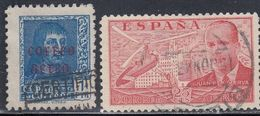 Spain, Scott #C99, C101, Used, Ferdinand The Catholic Overprinted, Juan De La Clerva And Autogiro, Issued 1938-39 - Poste Aérienne
