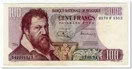 BELGIUM,100 FRANCS,1974,P.134,XF - [ 2] 1831-... : Reino De Bélgica