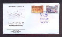 Tunisia/Tunisie 2020 - Rock Paintings : Djebel Ousselet (Oueslatia) - Djebel Bliji (Tamaghza) - FDC - Excellent Quality - Tunisia