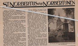 ST.NORBERTUS EN DE NORBERTIJNEN..1934..TONGERLOO/PARK-HEVERLEE/AVERBODE/GRIMBERGEN / ABDIJ LEFFE/MICHIELS ABDIJ ANTWERPE - Vieux Papiers