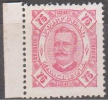 ZAMBÉZIA -1893-94, D.Carlos I,  75 R.    D. 12 1/2  Pap. Porc.  (*) MNG  Afinsa Nº 8 - Zambèze