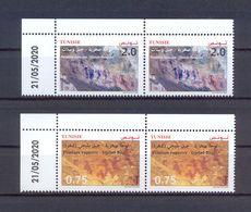 Tunisia/Tunisie 2020 - Rock Paintings : Djebel Ousselet (Oueslatia) - Djebel Bliji (Tamaghza) - Pair Of Stamps - MNH** - Tunisia