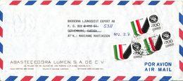 Mexico Air Mail Cover Sent To Sweden 18-12-1990 ?? - México