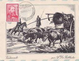 """VADEANDO"" A. DE LABBATA. GAUCHOS, JOSE HERNANDEZ. ARGENTINE CARTE POSTALE CIRCULEE ANNEE 1967 -LILHU - Argentinië"