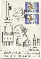 XW 2315 Firenze - XVIII Convegno Filatelico Fiorentino 1974 - Annullo Commemorativo / Viaggiata - Firenze (Florence)