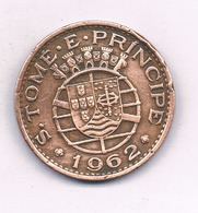 1 ESCUDO 1962 (mintage  160000 Ex) SAO TOME ET PRINCIPE /4252/ - Santo Tomé Y Príncipe