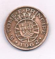 1 ESCUDO 1962 (mintage  160000 Ex) SAO TOME ET PRINCIPE /4252/ - Sao Tome En Principe