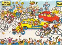 """LES GRANDES ÉTAPES DU TOUR DE FRANCE 1984 - 12é Etape SAINT GIRONS/BLAGNAC """" Banania Le Maillot Jaune Du Petit Déjeune""""r - Cyclisme"""