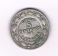 5 CENTAVOS 1949 HONDURAS /4256/ - Honduras