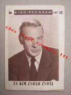 For Whom The Bell Tolls (1943) / Sam Wood: Gary Cooper, Ingrid Bergman, Akim Tamiroff - VESNA ( American Film ) - Programs