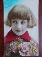 ENFANTS - Fillette Avec Bouquet De Fleurs. (Joyeux Noël) - Portretten