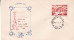 USINA DE SALTO GRANDE, MINASGERAIS 1956. BRESIL FDC ENVELOPPE ANNEE 1956-LILHU - Télécom