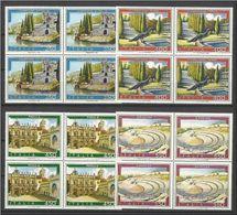 1984 Italia Italy Repubblica TURISTICA 4 Serie Di 4v. In Quartina MNH** Bl.4 - Non Classés