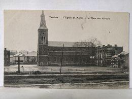 Tamines. Eglise St Martin Et La Place Des Martyrs. Vue Rare! - Sambreville