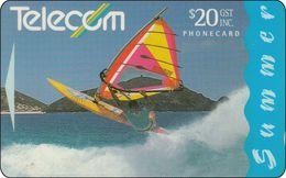 New Zealand Phonecard Surfing Surfen - Neuseeland