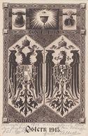 CARTE PROPAGANDE ALLEMANDE - GUERRE 14-18 - OSTERN 1915 - Guerre 1914-18