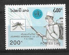LAOS 1992 INSECTS, PALUDISM ERADICATION MNH - Medicine