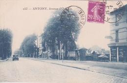 92 - ANTONY - AVENUE D'ORLEANS - ANCIENNE AUTOMOBILE - COMMERCE BOULANGERIE EPICERIE - Antony