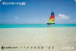 Carte Orange Japon - BATEAU VOILIER  - SAILING SHIP - Japan Prepaid JR Card  - SCHIFF - 450 - Bateaux