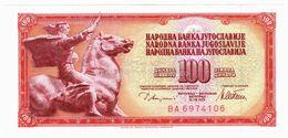 LOT121 - Banknote Yugoslavia 100 Sto Dinara Dinarjev Dinars 1978 Republika Jugoslavija Beograd - UNC #with Paper Defect# - Yugoslavia