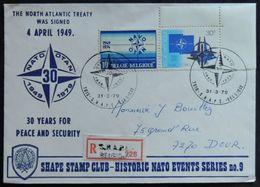 Entiers Postaux - OTAN / NATO., S.H.A.P.E.,Militaires, Armée, Envoi Recommandé, Mons (Military - Belgium) - OTAN