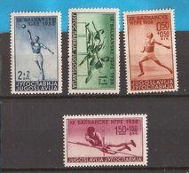1-ALB  1938 362-65   SPORT BALKANSPIELE  ATLETICA  JUGOSLAVIJA JUGOSLAWIEN KOENIGREICH  MNH - Jumping