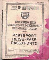 SUISSE - PASSEPORT - DIRECTION DE BERNE - CONFEDERATION - 8-4-1917 - CONSULAT DE FRANCE - CONSULAT DU MAROC - - - Vecchi Documenti
