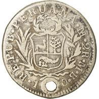 Monnaie, Pérou, 2 Reales, 1840, Lima, TB+, Argent, KM:141.1 - Perú
