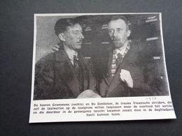 """Origineel Knipsel ( 4293 ) Uit Tijdschrift """" Ons Volk """"  1937 :    Grammens   De Dobbeleer  Strijders Der Taalwetten - Old Paper"""