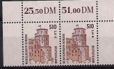 2001 Allem. Fed. Deutschland  Mi. 2225**MNH Oberand Paar   Sehenswürdigkeiten: Heidelberger Schloss - [7] République Fédérale