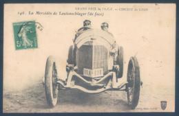 Automobile La Mercedes De Lautenschlager De Face Grand Prix De L'A.C.F. Circuit De Lyon - Sport Automobile