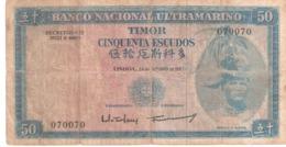 Timor 50 Escudos 1967 Capicua - Timor