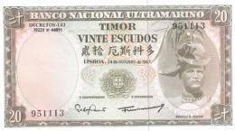 Timor 20 Escudos 1967 UNC - Timor