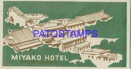 134888 JAPAN KYOTO PUBLICITY MIYAKO HOTEL LUGGAGE NO POSTAL POSTCARD - Adesivi Di Alberghi