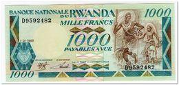 RWANDA,1000 FRANCS,1988,P.21,UNC - Rwanda