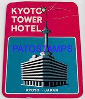 134889 JAPAN KYOTO PUBLICITY KYOTO TOWER HOTEL LUGGAGE NO POSTAL POSTCARD - Adesivi Di Alberghi