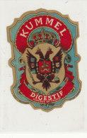 AN 902 / ETIQUETTE -   KUMMEL   DIGESTIF  FABRIQUE EN FRANCE - Andere