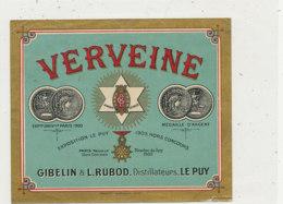 AN 903 / ETIQUETTE -    VERVEINE   GIELIN & L. RUBOD. DISTILLATEURS  LE PUY - Andere